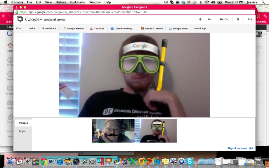 """Google """"Hangout"""" Screen Shot"""