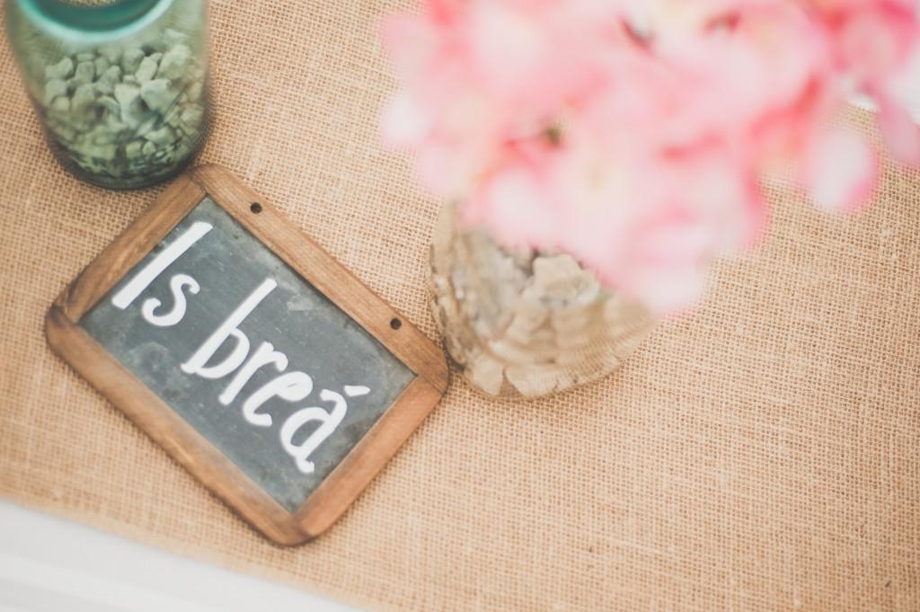 Mason Jars, Slate, and Hydrangea Table Decorations