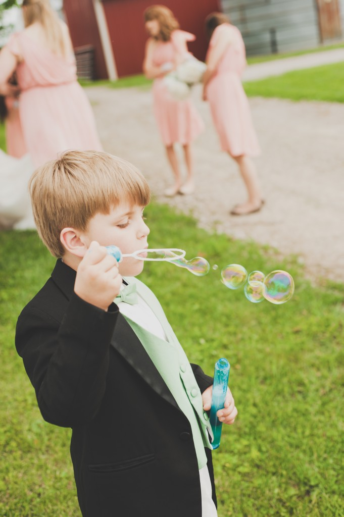 Caleb Blowing bubbles