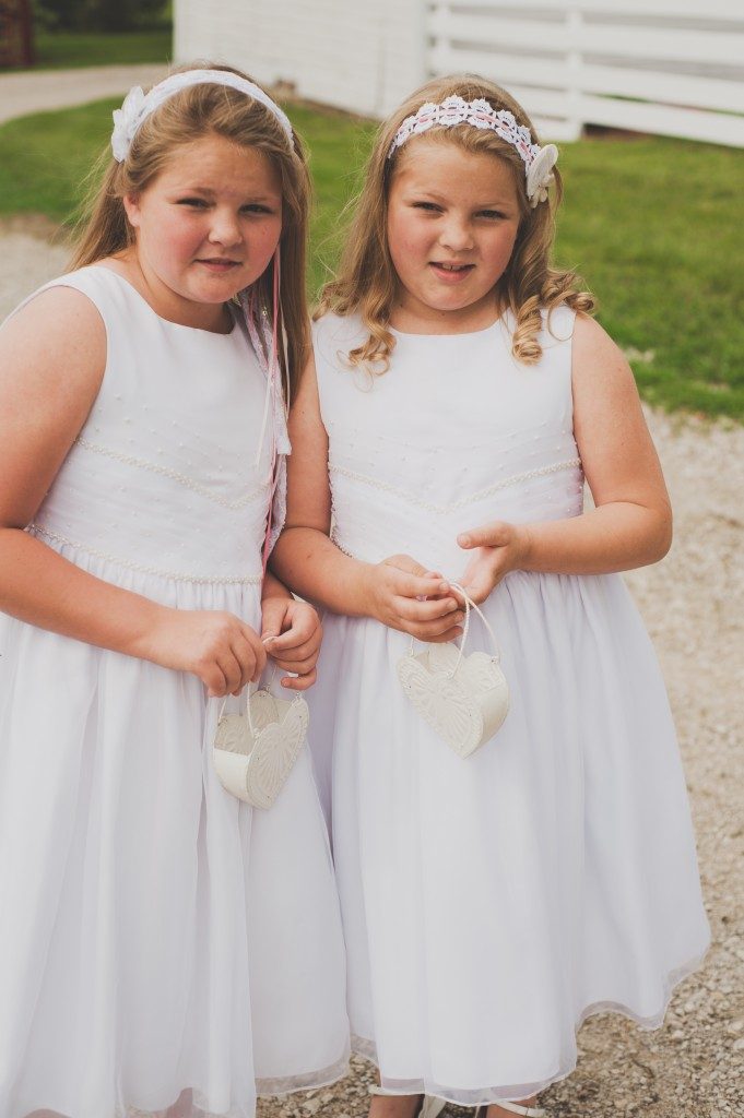 My flower girls Rebeka and Grace