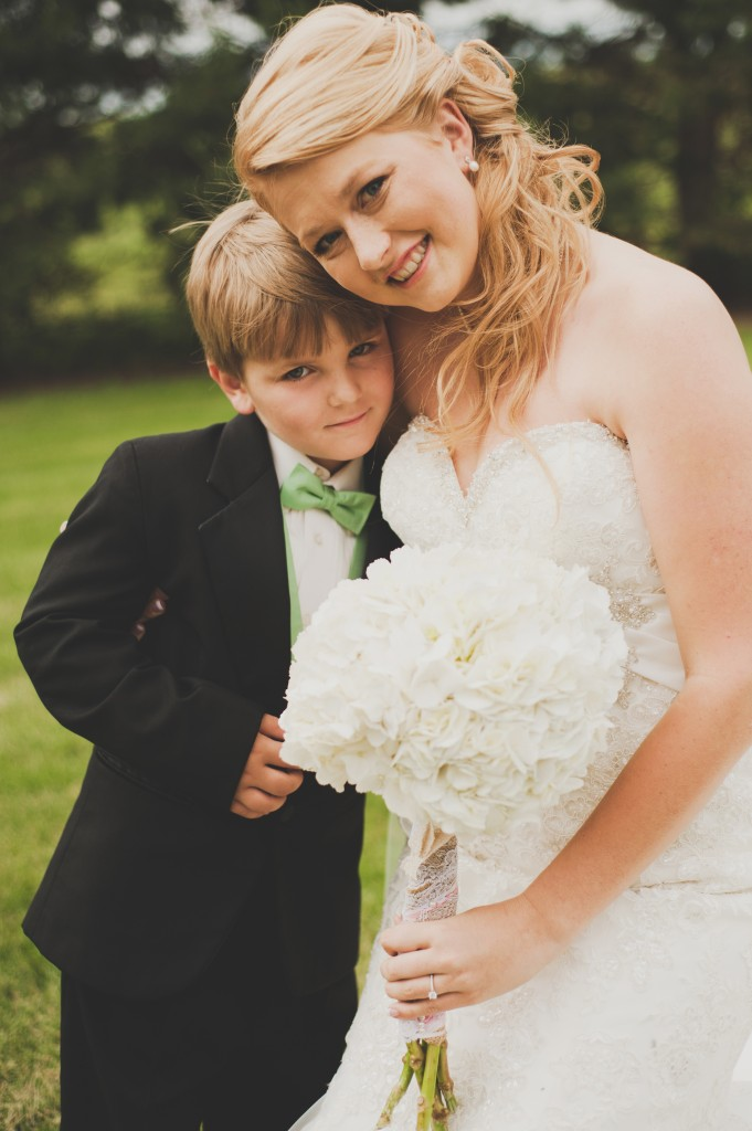 Bride and Ring Bearer.