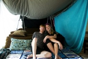 Tent in our living room